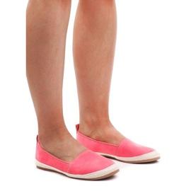Suede Ballerinas Espadrilles 889-103 Pink