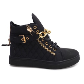 High Quilted Sneakers R-35 Black