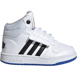 White Adidas Hoops Mid 2.0 I Jr EE8551 shoes