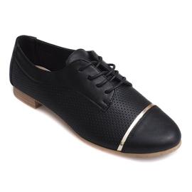 Openwork Jazz women's low shoes 6-154 black