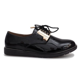 Black lacquered Rose shoes