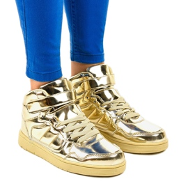 Gold Lacquered Sneakers XW7082 yellow