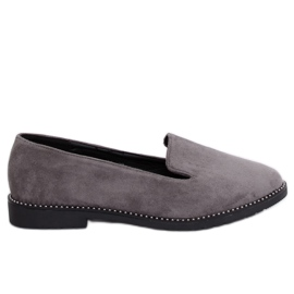 Grey Gray lords gray loafers N90 Gray