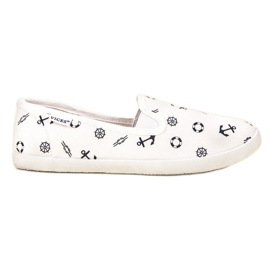 VICES sailor slippers white