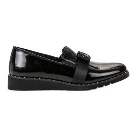 Filippo black Slip-on Leather Shoes
