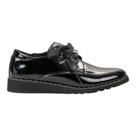 Filippo Black Lacquered Shoes