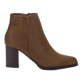Filippo Suede Booties On A Bar brown