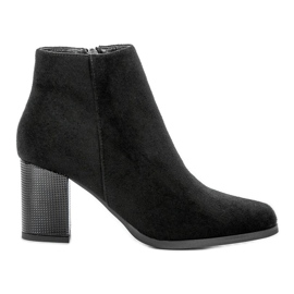 Filippo Suede Booties On A Bar black
