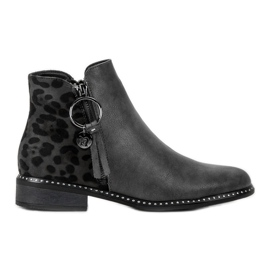 Filippo Stylish Zipper Boots grey