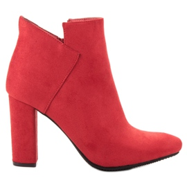 Vinceza red Sexy Suede Boots