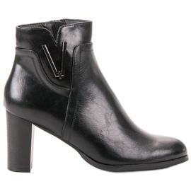 Vinceza Black Ankle Boots
