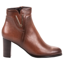 Vinceza Brown Ankle Boots