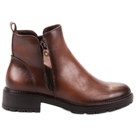 Vinceza Low Ankle Boots brown