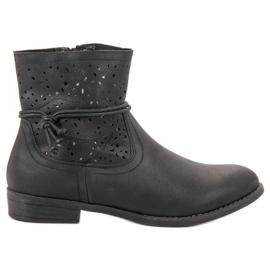 Groto Gogo black Openwork Women's Boots