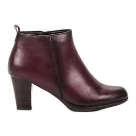 Vinceza red Low Heels