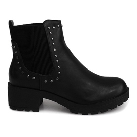 Motor Boots With Studs 1643 Black