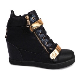 Wedge Sneakers Sheet A89 Black