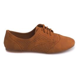 Brown Openwork Jazz Shoes Low 219 Camel