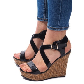 Wedge Sandals S260 Black