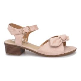Brown Noemia high heels sandals