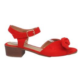 Red Noemia high heels sandals