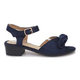 Navy Noemia dark blue high-heeled sandals
