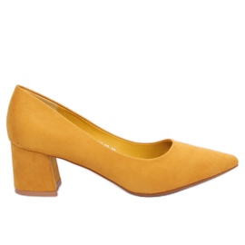 Yellow KJ-10 Yellow high-heeled pumps