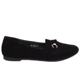 Black Women's loafers 99-259 Black