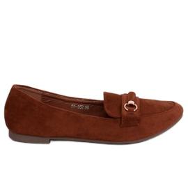 Women's loafers brick 99-259 D.ORANGE brown