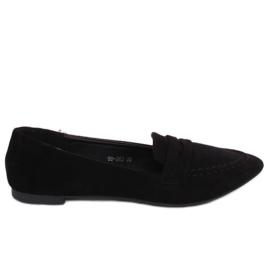 Black Women's loafers 99-262 Black