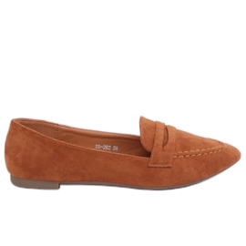 Brown Women's loafers camel 99-262 Camel