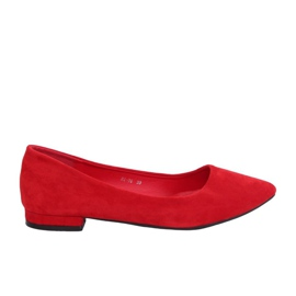 Ballerinas with almond toes red RC-76 Red
