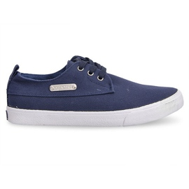 Fabric Sneakers Casual Y011 Blue