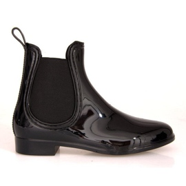 Short Wellingtons with elastic band SD98 Black