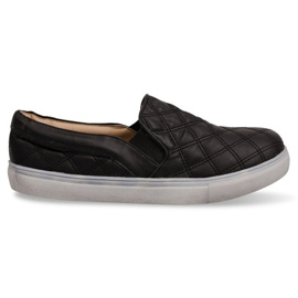Slip-on Quilted Sneakers Slip On 9033 Black