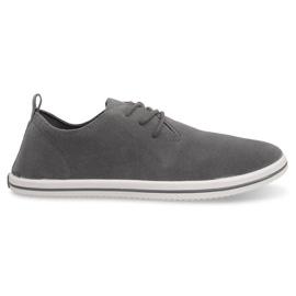 Lightweight Men's Sneakers With Eco Suede 1205 Gray grey
