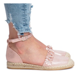 Pink espadrilles with Favara flowers
