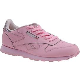 Reebok Classic Leather Metallic Jr BD5898 shoes pink