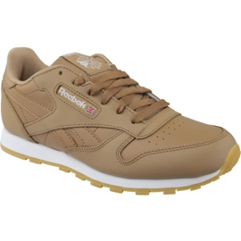 Reebok Classic Leather Jr CN5610 shoes brown