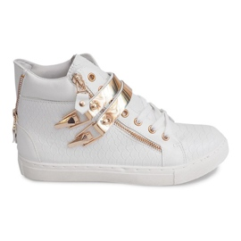High Sneakers With Slider 1525-2 White