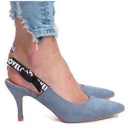 Blue sandals Love Paris