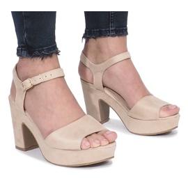 Brown Beige Boiset post sandals