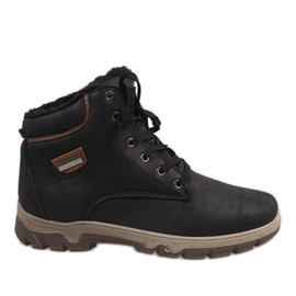 Black insulated snow boots 1792