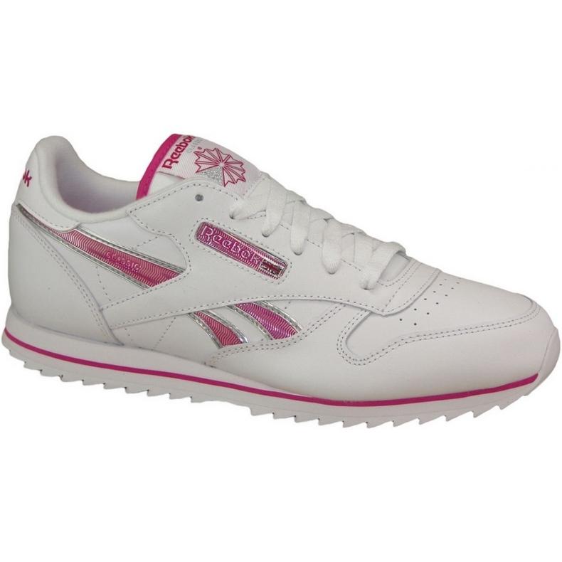 Reebok Cl Lthr Ripple Iii Jr V59227 shoes white