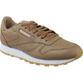 Brown Reebok Classic Lthr M CN5768 shoes