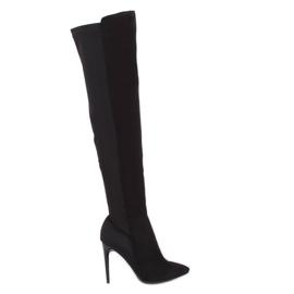 Black Thigh-high boots black 0H010 Black