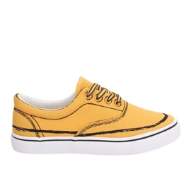 Yellow Women's sneakers BS103 Yellow
