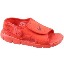 Red Nike Sunray Adjust 4 Ps Jr 386518-603 sandals