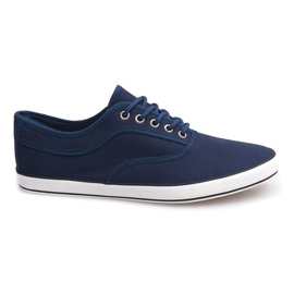 Navy Lace-up sneakers B001 Marineblau