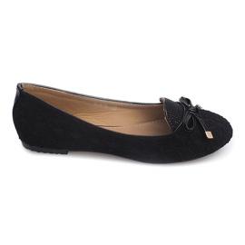 921 Black Lace Ballerinas